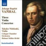 Concerto per violino w iib: g3, g1, bb1 cd musicale di Vanhal johann baptis
