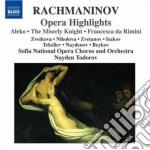 Estratti dalle opere: aleko, francesca d cd musicale di Sergei Rachmaninov