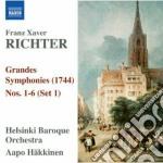 Grandes symphonies nn.1-6 cd musicale di Richter franz xavier