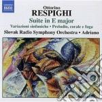 Respighi Ottorino - Suite In Mi Maggiore, Variazioni Sinfoniche  Preludio, Corale E Fuga  Burlesca cd musicale di Ottorino Respighi