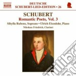 Leder: romantic poets, vol.3 cd musicale di Franz Schubert
