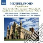 Musica corale: sechs sprache op.79, hear cd musicale di Felix Mendelssohn