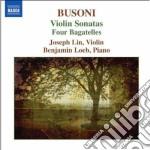 Sonata per violino n.1 op.29, n.2 op.36a cd musicale di Rerruccio Busoni