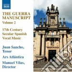 The guerra manuscript, vol.2 - manuscrit cd musicale di Miscellanee