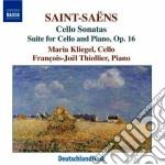 Saint-saens Camille - Sonata Per Violoncello N.1 Op.32, N.2 Op.123, Suite Op.16 cd musicale di Camille Saint-saËns