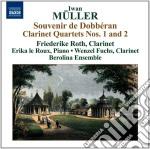 Iwan Muller - Souvenir De Dobberan, Quartetti Con Clarinetto N.1 E N.2, Le Reve Op.73 cd musicale di Iwan Muller