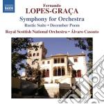 Fernando Lopes-Graca - Symphony For Orchestra cd musicale di Fernando Lopes-gra�a