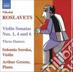 Sonata per violino n.1, n.4, n.6, 3 danz cd musicale di Nicolai Roslavets