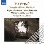 Opere per pianoforte (integrale), vol.1 cd musicale di Bohuslav Martinu