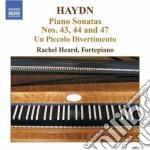 Sonata per pianoforte n.43, n.44, n.47, cd musicale di Haydn franz joseph
