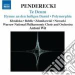 Te deum, hymne an den heiligen daniel, p cd musicale di Krzysztof Penderecki