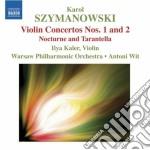 Concerto per violino n.1, n. 2; notturno cd musicale di Karol Szymanowski