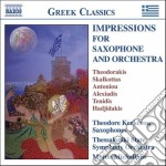 Impressions for saxophone and orchestra cd musicale di Mikis Theodorakis
