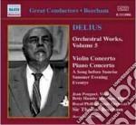 Concerto per violino, concerto per piano cd musicale di Frederick Delius