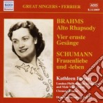 Vier ernste ges????nge op.121, sapphische o cd musicale di Johannes Brahms