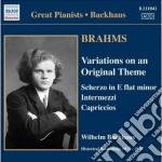 Brahms Johannes - Variazioni Su Un Tema Originale Op.21, 2 Intermezzi Op.117, Valzer Op.116 cd musicale di Johannes Brahms