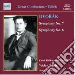 Sinfonia n.7 op.70, n.8 op.88 cd musicale di Antonin Dvorak