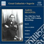 New york 1946 and 1949 london recordings cd musicale di Andres Segovia