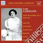 Lieder recordings, vol. 1 (1935-1937) cd musicale di Lotte Lehmann