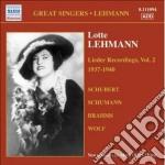 Lieder recordings, vol. 2 (1937-1940) cd musicale di Lotte Lehmann