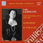 Lieder recordings, vol. 5 (1941-42) cd musicale di Lotte Lehmann