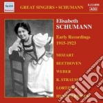 Early recordings (1915-1923) cd musicale di Elisabeth Schumann