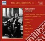 Gigli edition, vol.14: londra, milano, r cd musicale di Beniamino Gigli