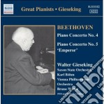 Concerto per pianoforte n.4 op.58, n.5 o cd musicale di Beethoven ludwig van