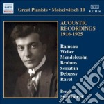 Acoustic recordings 1916-1925 cd musicale di Benno Moiseiwitsch