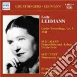 Lieder recordings, vol.3 (1941) cd musicale di Lotte Lehmann