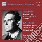 Sinfonia n.1 op.60, overture accademica cd musicale di Johannes Brahms