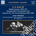 Concerto italiano, fantasia cromatica e cd musicale di Johann Sebastian Bach
