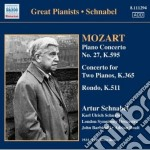 Mozart Wolfgang Amadeus - Concerto Per Pianoforte N.27 K 595, Concerto Per 2 Pianoforti K 365, Rondo K 511 cd musicale di Wolfgang Amadeus Mozart
