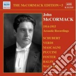 Edition vol.5: the acoustic recordings ( cd musicale di John Mccormack