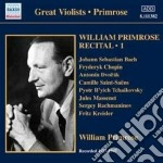 Primrose William - Recital, Vol.1: 1939-1947 cd musicale di William Primrose