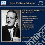 Primrose William - Recital, Vol.2: 1939-1952 cd musicale di William Primrose