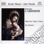 Mass for three voices cd musicale di Giacomo Carissimi