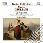 Giuliani Mauro - Opere X Chitarra Vol.1: Variazioni cd musicale di Mauro Giuliani