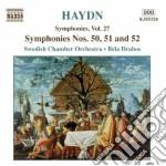 Symphonies nos.50 51 & 52 cd musicale di HAYDN