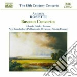 Concerti per fagotto cd musicale di Rosetti francesco an