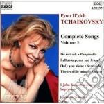 Complete songs vol.3 cd musicale di TCHAIKOVSKY