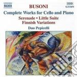 Opere per violoncello e pianoforte cd musicale di Ferruccio Busoni