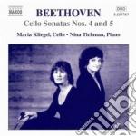 Sonata per violoncello n.4, n.5; 12 var cd musicale di Beethoven ludwig van