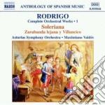 Opere x orchestra (integrale) vol.1: sol cd musicale di JoaquÍn Rodrigo