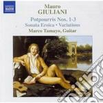Potpourris nn.1-3, sonata eroica op.150, cd musicale di Mauro Giuliani