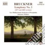 Sinfonia n.3 (versioni del 1877 e 1889) cd musicale di Anton Bruckner