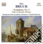 Sinfonia n.3 op.51, suite su temi russi cd musicale di Max Bruch