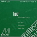 The works for violin 4 - cage john cd musicale di John Cage