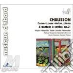 Concerto x vl, pf e quartetto d'archi op cd musicale di Ernest Chausson