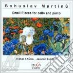 Martinu Bohuslav - Brani Brevi Per Violoncello E Pianofortearietta, Miniature  Suite, /jaromir Klepac, Pianoforte cd musicale di Bohuslav Martinu